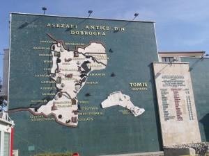 Mapa de asentamientos romanos y sus nombres actuales