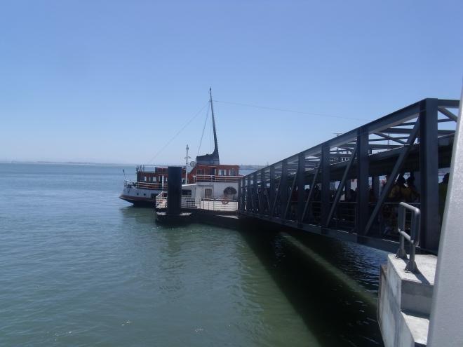 Subiendo al ferry