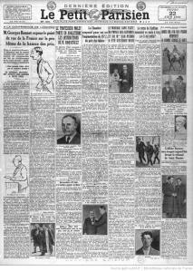 Portada de 'Le Petit Parisien' en que se informa de la aparición de 'Los 3500 ángeles' (cuarta columna, encima de la fotografía)